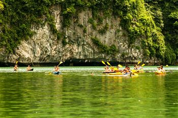 Half day kayaking on Lan Ha Bay