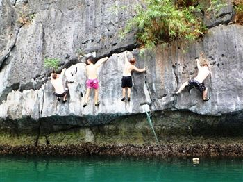 Full day deep water soloing on Lan Ha Bay