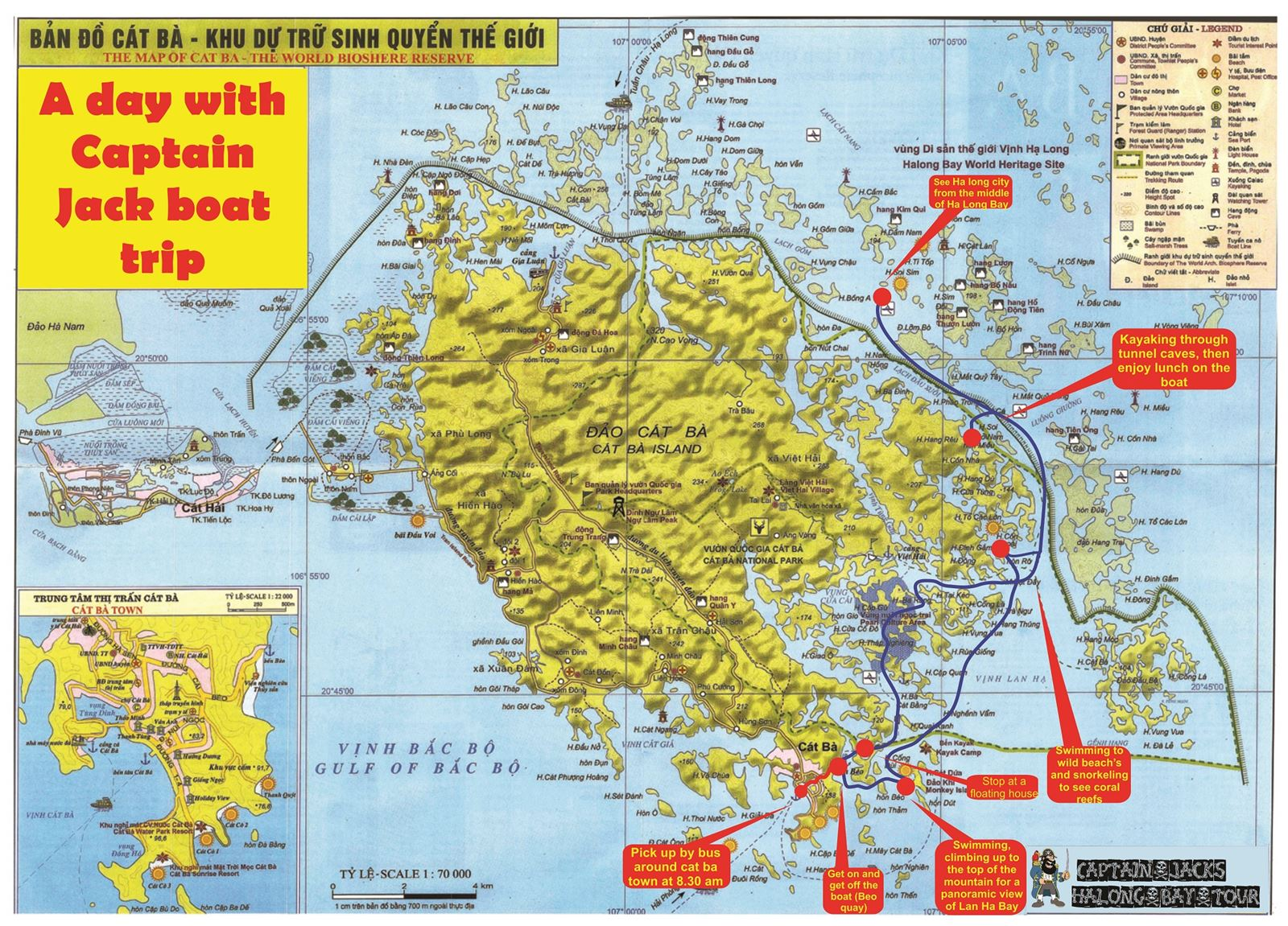 Map of Captain Jacks Ha Long tours