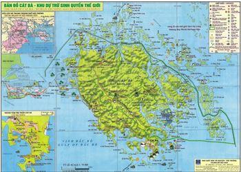 Bản đồ du lịch Cát Bà và vùng Lân cận